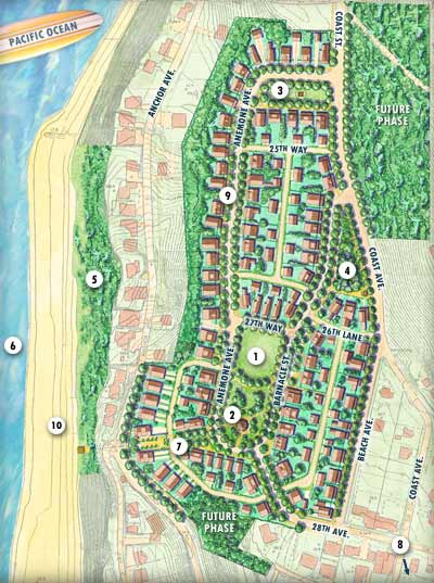 Olivia Beach Neighborhood Map