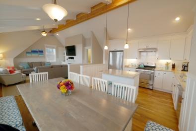 The open floor plan of the top floor is spacious and comfortable.