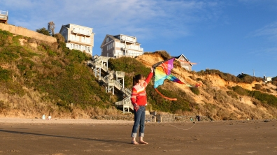 Fun on the beach is a short walk from Seaview Cottage!